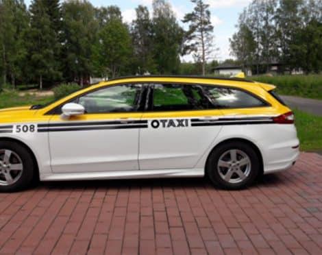 Taxi Oulu, Otaxi ajoneuvon teippaus