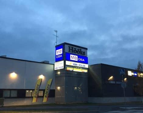 Oulun MB Osa valomainos kotelo
